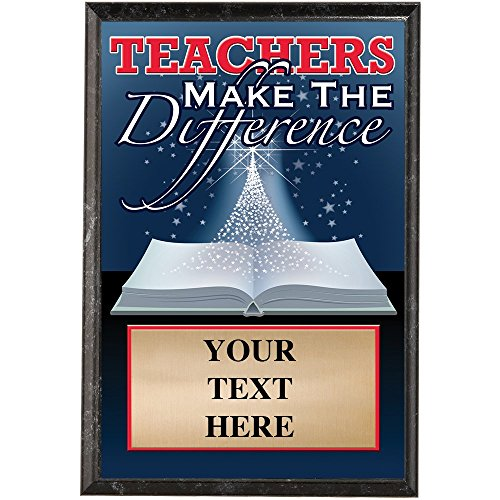 Teacher Appreciation Plaques - Teachers Make The Difference Trophy Award Gift Prime
