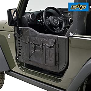 EAG Pocket Tubular Tube Doors with Cargo Cover Storage Bags With Sideview Mirror for 07-17 Jeep Wrangler JK (2 Doors Only) & Amazon.com: EAG Pocket Tubular Tube Doors with Cargo Cover Storage ...