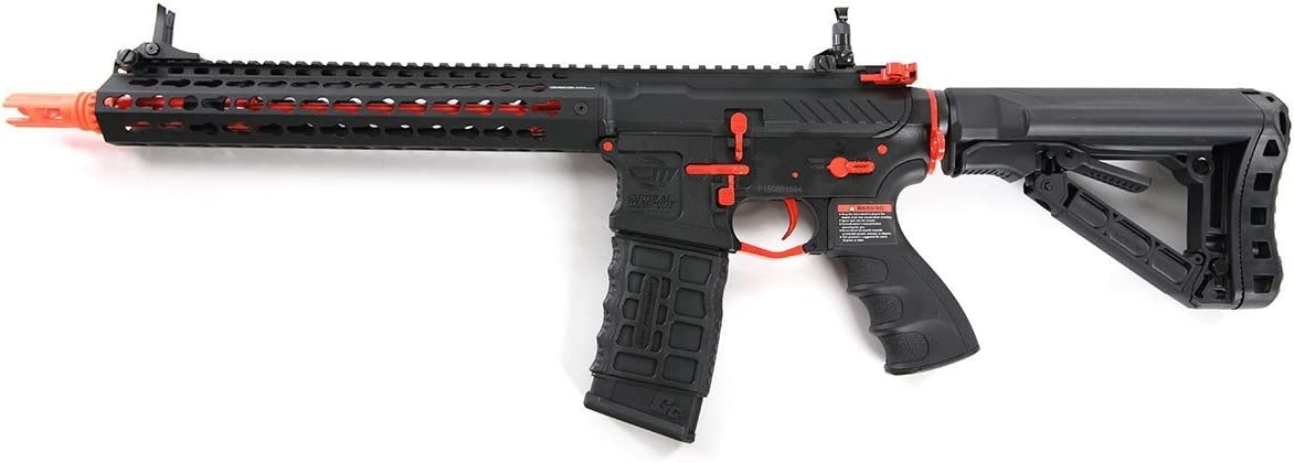 G G Combat Machine CM16 SRXL 6mm Airsoft AEG Rifle w KeyMod MOSFET, Red Edition