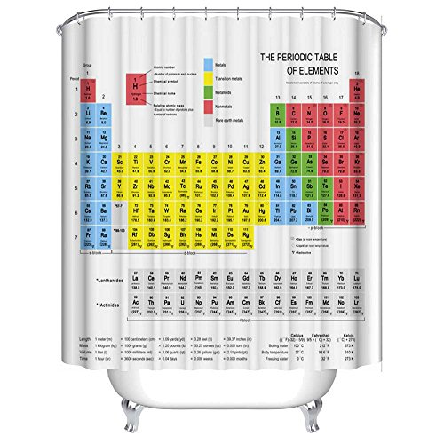 180*180CM Periodic Table of Elements Waterproof Bathroom Shower Curtain - 3