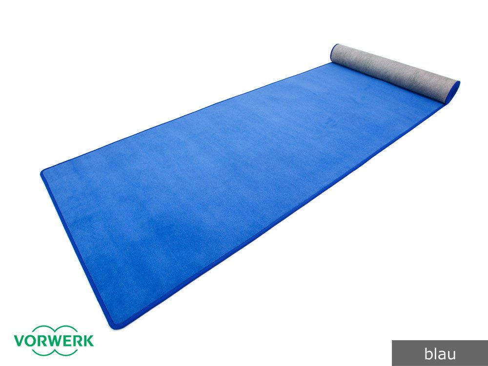 Bijou - Der Vorwerk Teppich Läufer von HEVO® in Blau 120x340 cm