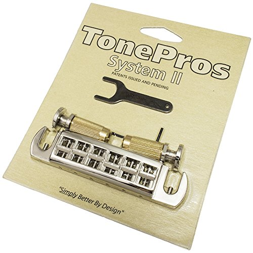 TonePros Wraparound PRS Santana Bridge with Locking Studs, (Locking Bridge Studs)