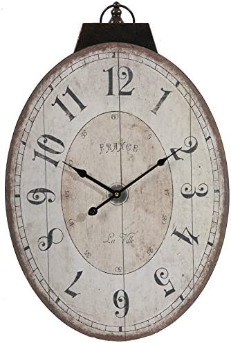 A B Home Lu Ville Wall Clock, 17.7 X 29-Inch