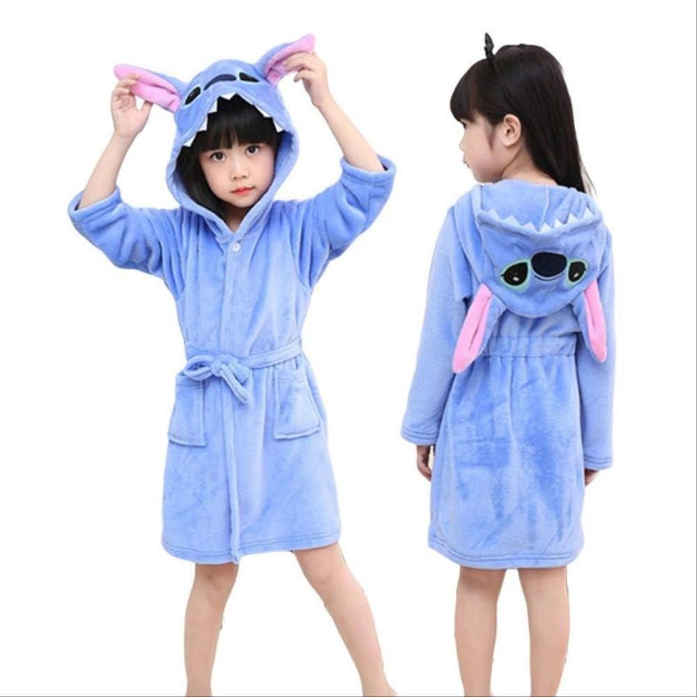 Toalla para niños Playa Bebé Bata de baño Albornoz con capucha Animal Unicornio con capucha Para niños Niñas Pijama Camisón Ropa de dormir para niños Bata 5 puntada azul