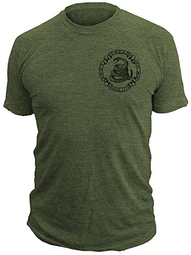 Don't Tread On Me® - Militia - Men's Tactical 50/50 T-Shirt DTOM® Clothing (X-LARGE)