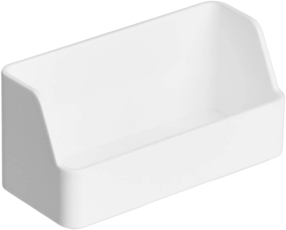 AmazonBasics Plastic Desk Organizer - Name Card Holder, White