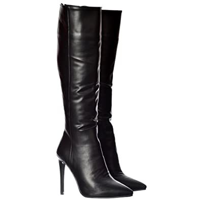 2769657177f4 Onlineshoe Women s Stiletto Heel Pointed Toe Knee High Boots UK3 - EU36 -  US5 - AU4