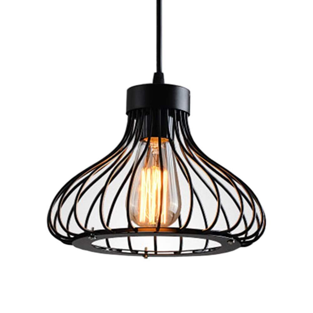 Industrial lamp shades Old Lamp Pendant Light Retro Vintage Ceiling Lighting Fixtures Industrial Lamp Shades Metal Shadow Art Deco Loft Modern Wire Black Cage Hanging Led Chandeliers E27 Amazoncom Pendant Light Retro Vintage Ceiling Lighting Fixtures Industrial