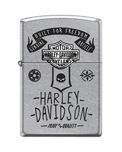 Zippo Harley-Davidson Built for Freedom Street Chrome Pocket Lighter