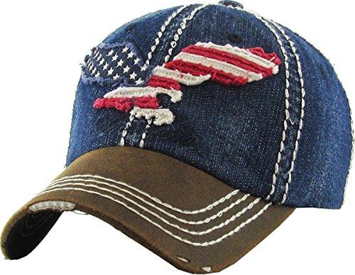 15471a3db4e KBVT-608 MDM Eagle Vintage Distressed Dad Hat Baseball Cap Adjustable
