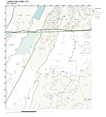 Mountain Home Ar Zip Code Map.Amazon Com Zip Code Wall Map Of Lookout Mountain Ga Zip Code Map