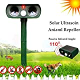Ultrasonic Solar Power Outdoor Animal Repeller Garden Infrared Sensor Animal Scarer