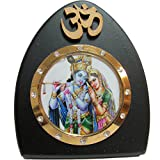 Om Radha Krishna Desk Dashboard Acrylic Frame Art Hindu Altar Yoga Meditation Accessory