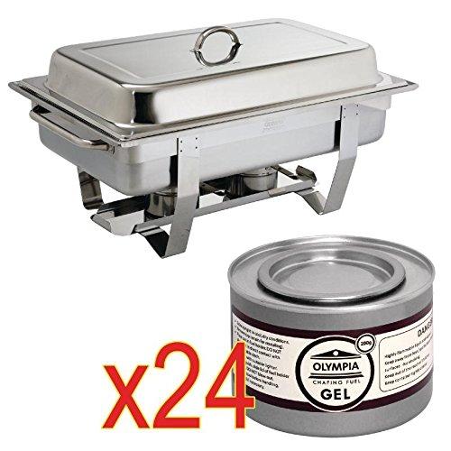 Un Chafing Dish Bac Gastronorme Et 24 Capsules De Combustible 1 Chafing Dish + 24 Capsules De 2 Heures