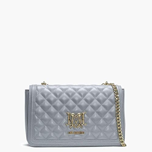 22eba5bd9c38 Love Moschino Grey Quilted Shoulder Bag Grey Leather  Amazon.co.uk ...