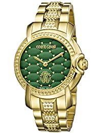 RV1L019M0116 Womens gold watch with green dial Watch. Roberto Cavalli