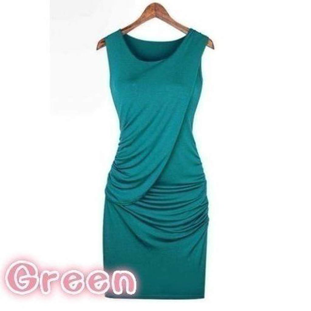 LEERYAAY S-5XL Plus Size Elegant Women Party Dress Summer Fashion Sleeveless Solid Color
