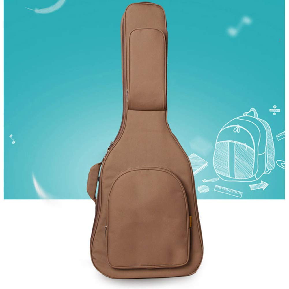 RONSHIN 41 Inch Acoustic Guitar Bag Oxford Double Straps Soft Case coffee Musical instrument by RONSHIN