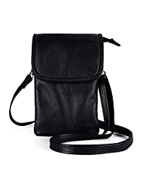 befen Cell Phone Crossbody Wallet Purse, Women Small Leather Crossbody Bag - Fit iPhone Xs Max