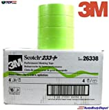 3M 1-1/2'' 233+ GREEN AUTO MASKING TAPE-4 Roll-PAINT CAR