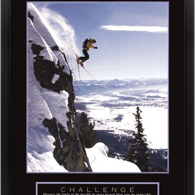 MTVR240786AEAAAAGADM - Metaverse Challenge - Skier Framed (Metaverse Framed Art)