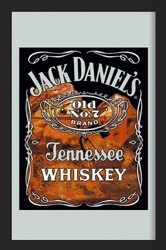 "Jack Daniels - Bar Mirror (Jack On The Rocks) (Size: 9"" x..."