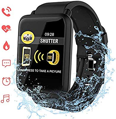 Reloj Inteligente Bluetooth, ACCEWIT Smartwatch Pantalla a Todo Color Conectada IP67 Rastreador de Actividad física a Prueba de Agua cardíaca ...