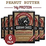 Kodiak Cakes Protein Pancake Power Cakes, Flapjack and Waffle Mix, Peanut Butter, 18 Ounce (Pack of 6)