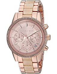 Michael Kors Womens Quartz Stainless Steel Casual Watch, Color:Rose Gold-Toned (Model: MK6493)