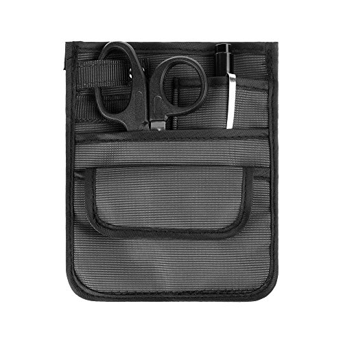 Beautyflier Set of 3 Nylon 4 Pockets Nurse Organizer Bag Pouch with Scissors and Pen Light Medical Accessories Tool Case Care Kit