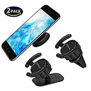 Car Mount for Pop Sockets, AZXYI 360° Rotation Pop Out Clip Mount in Car Air Vent and Pop Out Stand Car Mount on Dashboard, Expanding Phone Standing and Grip for All PopSockets User - [2 Pack]