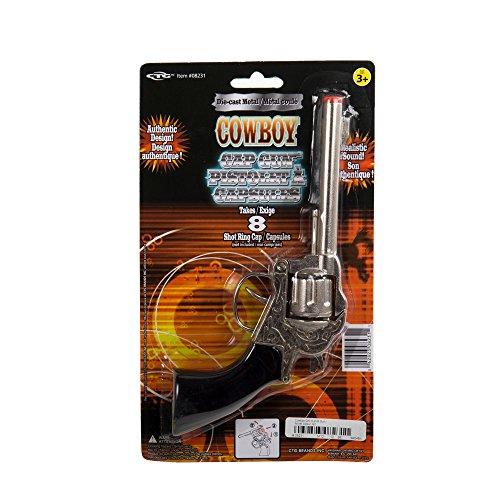 st 8-Shot .38 Cap Gun D/C 8 Nickel Colour, b/c, Black, 9.5 Inches (Diecast Cap Gun)