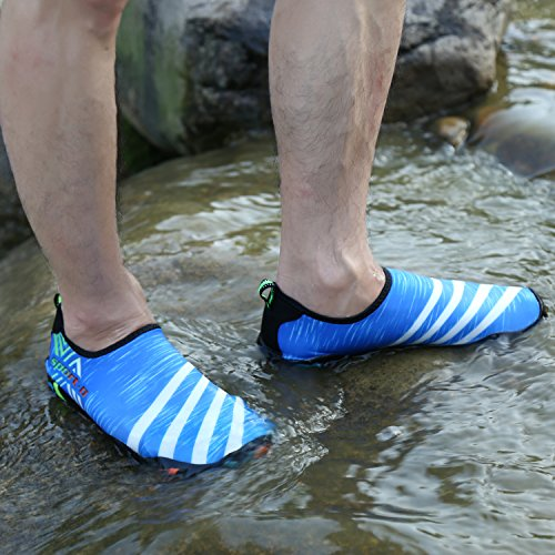 Bigcount Slippers Water Shoes Summer Quick-Drying Swim Yoga Aerobics Beach Pool Child Women Men Unisex Blue j4gpTImva