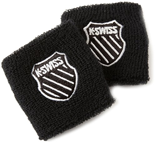 K-SWISS Unisex 3 Inch Wrist Band, Black, Pair K-swiss Accessories
