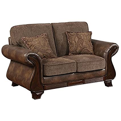 Awe Inspiring Amazon Com Furniture Of America Ramo Faux Leather Loveseat Squirreltailoven Fun Painted Chair Ideas Images Squirreltailovenorg