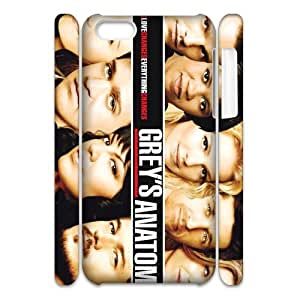 Custom American tv medical drama Grey's Anatomy iPhone 5C 3D Hard Plastic Shell Case Cover(HD image)