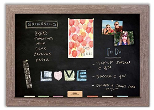 Magnetic Chalkboard with Driftwood Frame by The Cork Board Shop