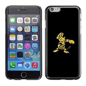 // PHONE CASE GIFT // Duro Estuche protector PC Cáscara Plástico Carcasa Funda Hard Protective Case for iPhone 6 / Meter Monster abeja amarillo /