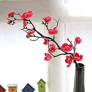 LtrottedJ Artificial Silk Fake Flowers, Plum Blossom Floral Wedding Bouquet Party Decor 37