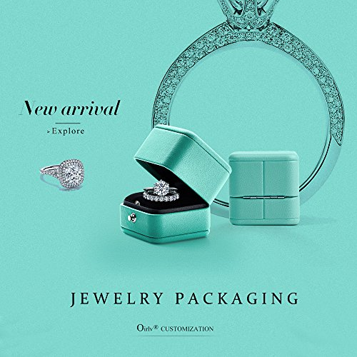 Oirlv Velvet Ring Box Jewelry Gift Case Ring Bearer Box Wedding,Propose by Oirlv (Image #4)