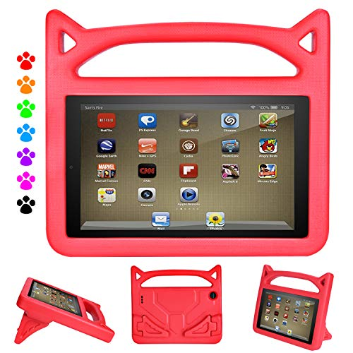 Case for HD 8 Tablet (Compatible with 6th/7th and 8th Generation Tablets,2016/2017 and 2018 Releases) - Dinines Shockproof Lightweight Durable Kid-Proof Cover Case for All-New HD 8 - Fire Covers Durable Kindle