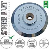 "Stadea ABP102Q 4 Inch Hook and Loop Velcro Backing Pad With Rigid Aluminium Backing, 5/8"" 11 Brass Arbor"