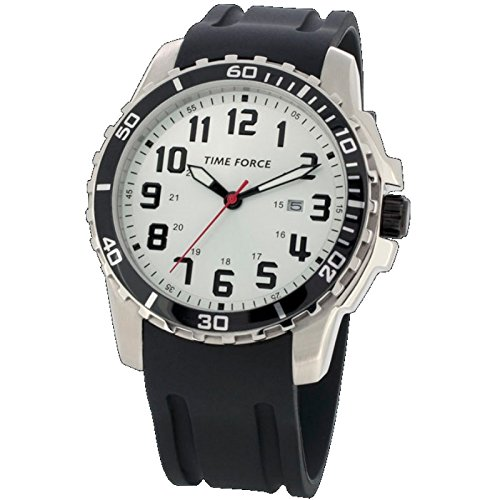 Time Force Tf3379m12 Reloj Analogico Para Chico Caja De Acero Inoxidable Esfera Color Plateado: Amazon.es: Relojes