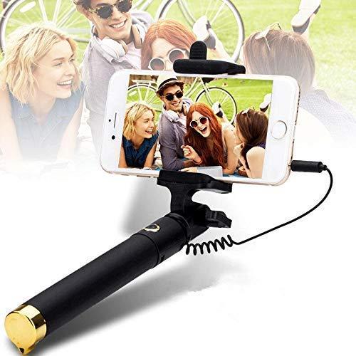 BKN® BuyKarNow Wired Selfie Stick for All Smart Phone  Black