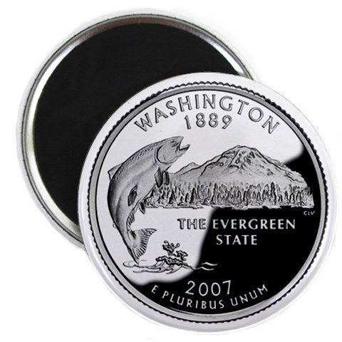 Washington State Quarter Mint Image 2.25 inch Fridge Magnet