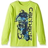 Carhartt Big Boys' Long Sleeve Force Tee Shirt, Green Heather, 5