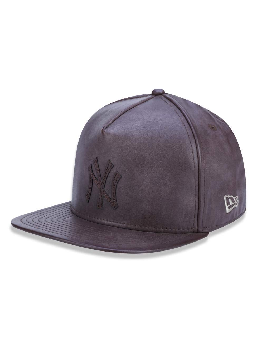BONE 5950 A-FRAME NEW YORK YANKEES MLB ABA RETA MARROM NEW ERA   Amazon.com.br  Amazon Moda ef4d6670cbd