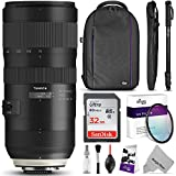 Tamron SP 70-200mm f/2.8 Di VC USD G2 Lens for NIKON F Cameras w/ Advanced Photo and Travel Bundle