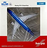 HE528085 Herpa 500 Scale KLM Royal Dutch Airlines B787-9 Model Airplane