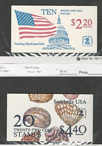United States, Postage Stamp, BK145-6 Booklet Mint NH, 1985 Seashells Flag